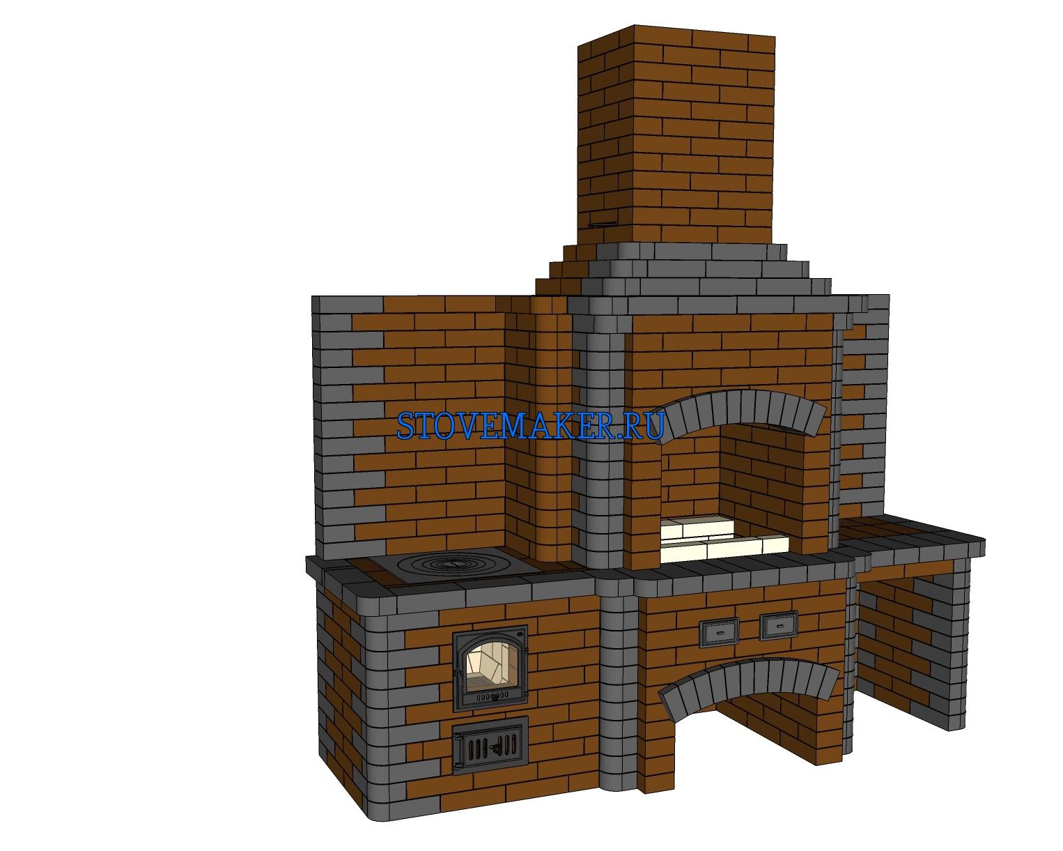 Как построить кирпичную печь 25