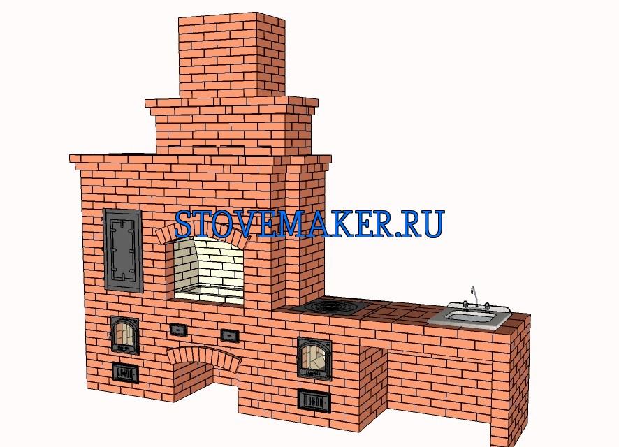 Проект барбекю-казан-мангал-коптильни устройство барбекю схема